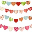 Stock Vector: Heart bunting