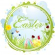 Happy easter border background — Imagens vectoriais em stock