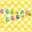 Hanging Easter egg background — Stock Vector