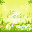 Easter background with decorative text — Stock Vector