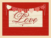 Valentine love script background — Stock Vector