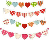 Heart bunting — Stock Vector