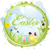 Happy easter border background — Stock Vector