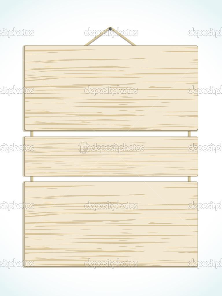Wood panel sign — stock vector elaineitalia