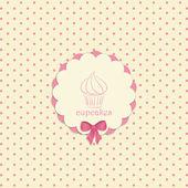 Cupcake label — Stock Vector