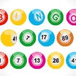 Pixel bingo balls — Stock Vector