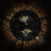 Black disco ball background — Stock Vector
