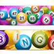 Bingo ball banners — Stock Vector