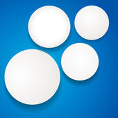White circles on blue — Stock Vector