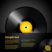 Vinyl record panel — Stock Vector