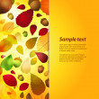 Autumn panel background with sample text — Stock Vector #28204371