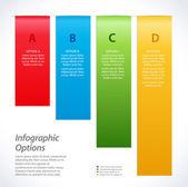 インフォ グラフィック背景バナー — ストックベクタ