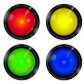 Arcade buttons — Stock Vector