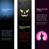 Halloween banners — Stock Vector