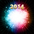 New year firework — Stock Vector