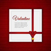 Valentine card — Vector de stock