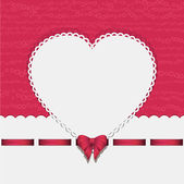 Heart background with ribbon pink2 — ストックベクタ