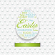 Easter typography background with ribbon — Stock Vector #39062583
