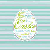 Easter egg typographical background — Stock Vector