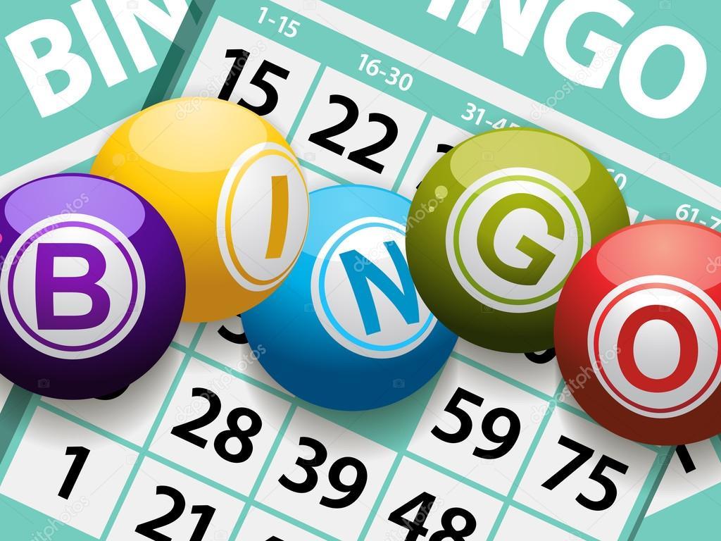 Bolas de bingo em um fundo de cart 227 o ilustra 231 227 o de stock