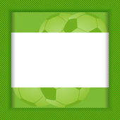 Football border background — Vector de stock