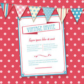 Invite and bunting background — Vecteur