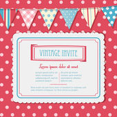 Invite and bunting background landscape — Vecteur