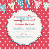 Invite and bunting background circular — Vecteur