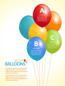 Colourful balloon infographic background — Stock Vector