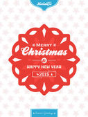 Christmas banner background red and blue portrait — Vector de stock