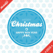 Christmas banner background red and blue — Stock Vector