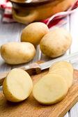 Sliced raw potato — Stock Photo