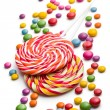 Colored candy and lollipop — Stock Photo