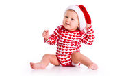 Baby in Santa's hat — Stock Photo