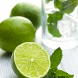 Green lime with mint - Stock Photo