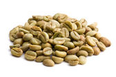 Green coffee beans — Foto de Stock