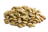 Zelené kávové boby — Stock fotografie