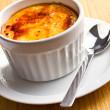 Creme brulee in ceramic bowl — Stock Photo #14385781