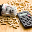 Wood pellets as ecological and economical heating — Stock Photo