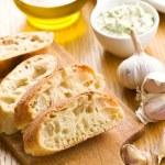 Sliced ciabatta bread — Stock Photo #14386051