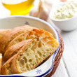 Sliced ciabatta bread — Stock Photo