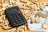 Wood pellets as ecological and economical heating — Stockfoto
