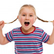Stock Photo: Little girl with pigtails