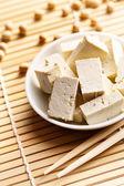 Frijoles de soya y tofu — Foto de Stock