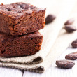 Chocolate brownies dessert — Stok fotoğraf
