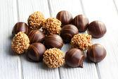 果仁巧克力糖 — 图库照片