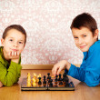 Young boys playing chess — Stock Photo #18636095