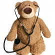 Stock Photo: Teddy bear with stethoscope