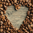 Coffee beans with heart — Stockfoto