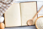 Kniha prázdné recept — Stock fotografie
